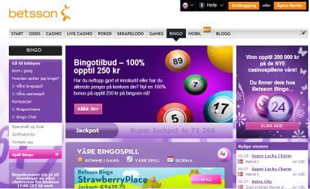 Betsson Bingo skjermbilde