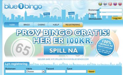 Blue 1 Bingo skjermbilde