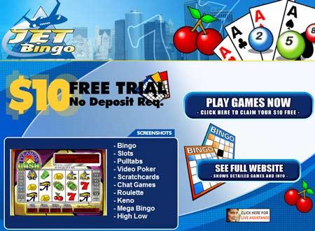 Jet Bingo skjermbilde