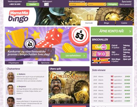 Mamamia Bingo skjermbilde