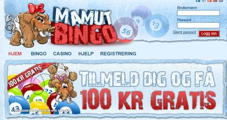 Mamut Bingo skjermbilde