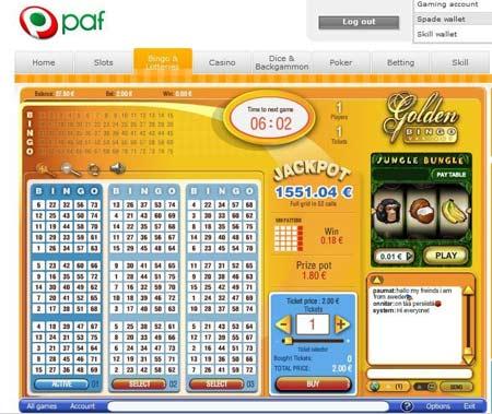 Paf Bingo skjermbilde
