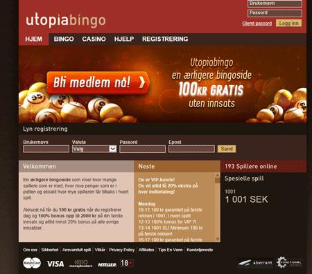Utopia Bingo skjermbilde